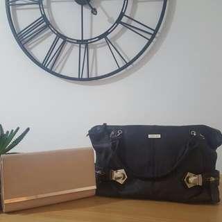 Bag And Beige Clutch