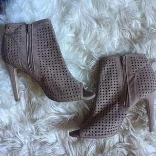 Ankle Heeled Peep Toes