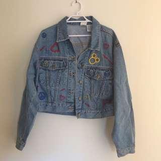 Vintage 90s Denim Jacket Mickey Mouse