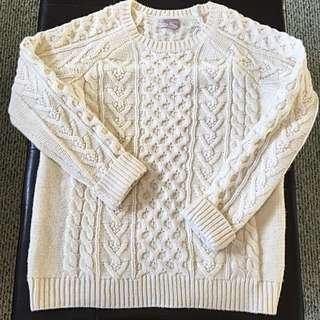Forever 21 Cableknit Sweater