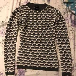 Pink Tartan Grey Knit Long-sleeves