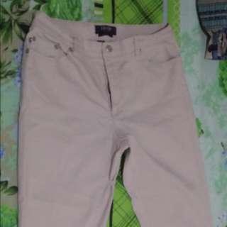 Cream Capri Pants