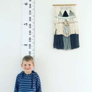 [In Stock] Canvas Height Chart / Growth Chart