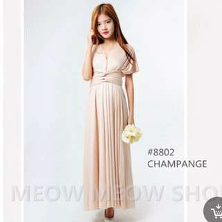 Convertible / Multiway Dress in Champagne
