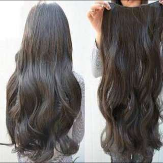 Elegant Clip Hair Extension Dark Brown