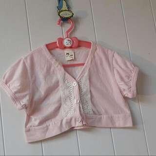 女童棉質短版罩衫~15號