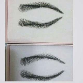 Human Hair Eyebrow Wig
