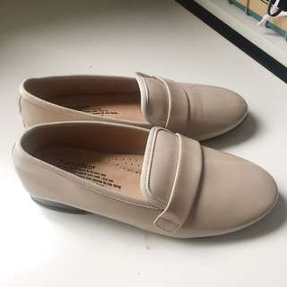 NEW Patent Nude Beige Loafers