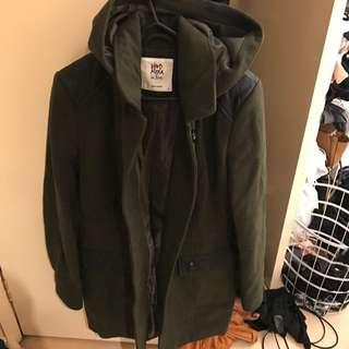 Army Green Long Coat