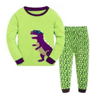 Baju tidur anak laki-laki/Piyama GAP Hongkong Boy Dino Purple/Green