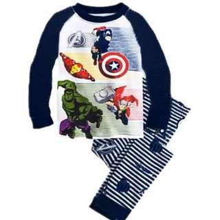 Baju tidur anak laki-laki/Piyama GAP Hk Boy The Avengers stripes Blue