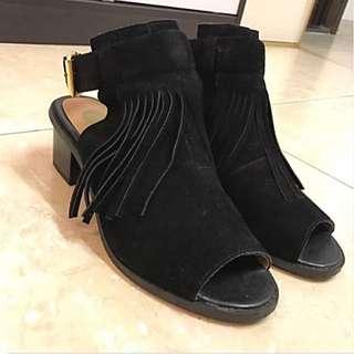 流蘇短靴 Angle Boots Heeled Sandals