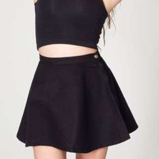 American Apparel Black Circle Skirt (Size S)