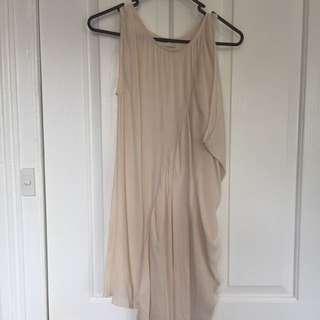 Cameo Shift Dress With Waterfall Drape Size XS