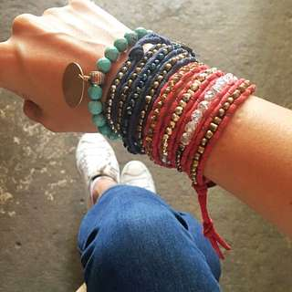 Handmade Wrap bracelet (Chan Luu Style)