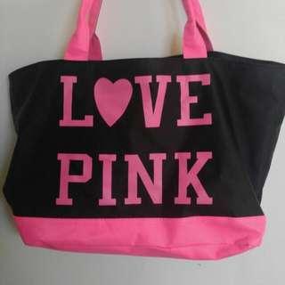 Love pink 尼龍防水大袋