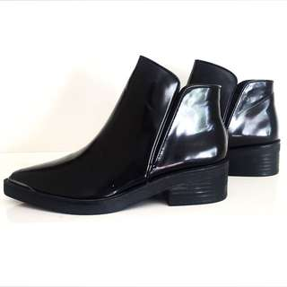 ZARA Black Ankle Boots (Size 7; Brand New)