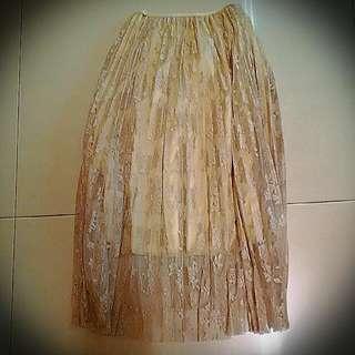 蕾絲飄逸折裙
