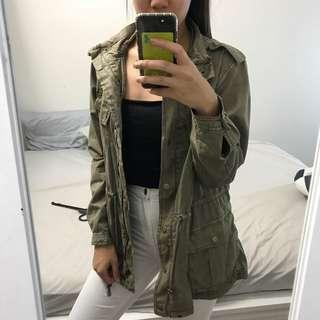 Khaki Hooded Anorak Jacket