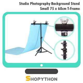 Studio Photography Background Backdrop T-Frame Light Stand Small 75*68cm