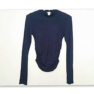 Auth Bozzolo Gathered Side Blouse (XS-S)