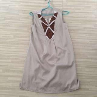 Dress Terusan Manik-manik Size s/m