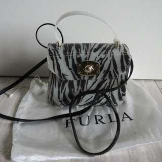 Furla Candy Zebra Print Mini Crossbody Bag