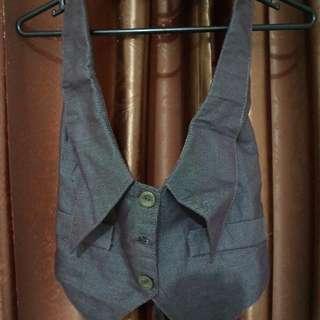 Brown Jeans Vest