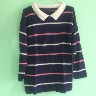 Stripes Coral Sweater