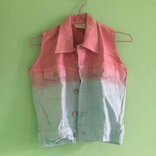 Ombre Jeans Vest
