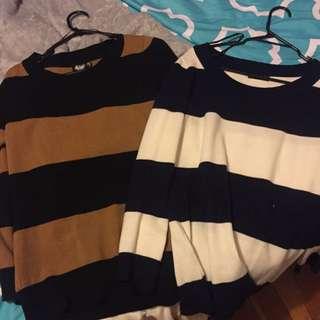 2x Striped Jerseys