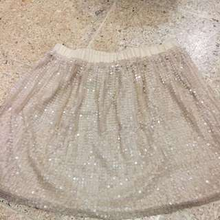 Zara Cream Blink Blink Skirt