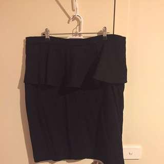 Ladies Black Peplum Skirt