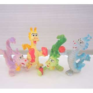 Rare 1980's Fast Food Advertisement, McDonald's Happy Meal Toy, The Popular Year of the DRAGON series, a Set of 4, Limited Edition