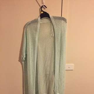 Ladies Long Large Knit Cardi