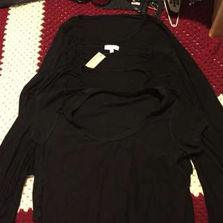 Ladies Long Sleeve Stretchy Tops X 4