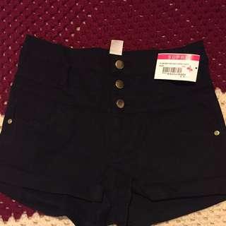 Ladies Black Short Shorts