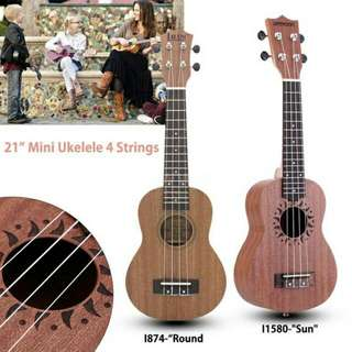"21"" Mini Ukelele Sapele Rosewood Fretboard Stringed Instrument 4 Strings"