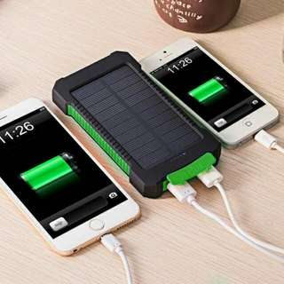 10000mAh Power Bank Waterproof Shock drop resistance Dual USB Travel Solar Charger PowerBank For Android And Apple smart phone