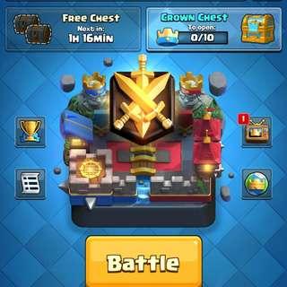 Clash Royale 4.9k Trophy Account