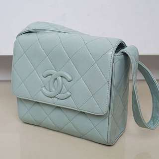 Chanel Square Pastel Blue Lambskin #2