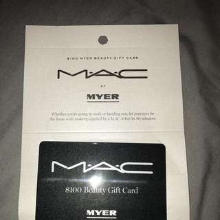 $100 MAC Makeup Gift Card Selling for $90-SOLD