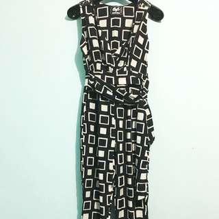 Square Pattern Jumpsuit