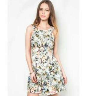 Brand New Cut In Flora Dress