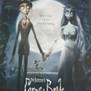 Huge Corpse Bride Johnny Depp And Helena Bonham Carter Poster (Double Sided)