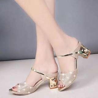 夏季新款女鞋露趾魚口鞋懶人鞋拖鞋涼鞋羅馬鞋高跟鞋