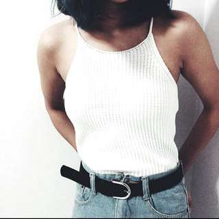 🚚 Knitted Ribbed Halter Top