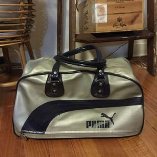 Vintage Puma PVC Vinyl Sports Bag