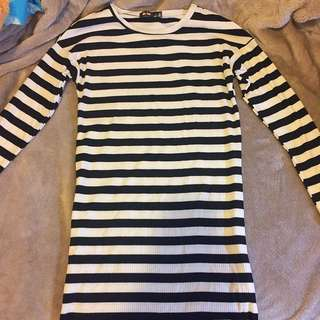 Black & White Stripy Dress