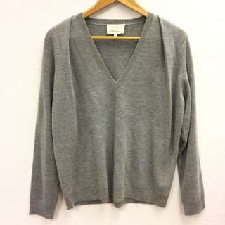 3.1 Phillip lim grey knit top size L